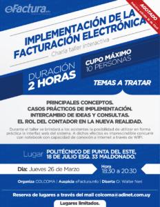 Taller facturación electrónica Colegio Contadores Maldonado