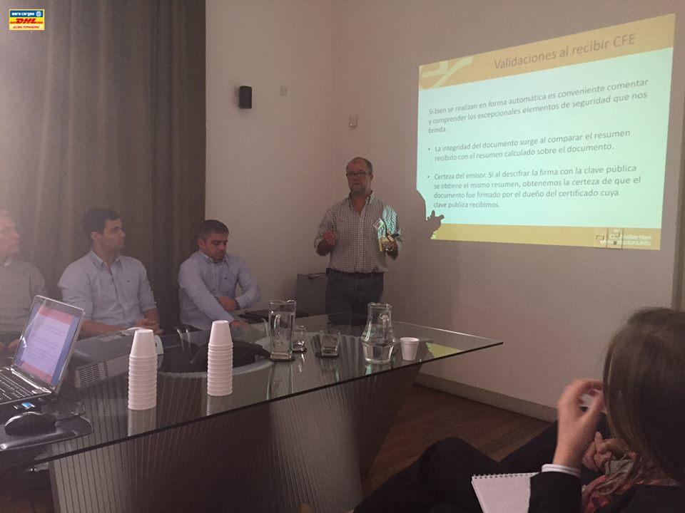 eFactura.info charla sobre facturación electronica en las oficinas de Aero Cargas S.A. c/o DHL Global Forwarding