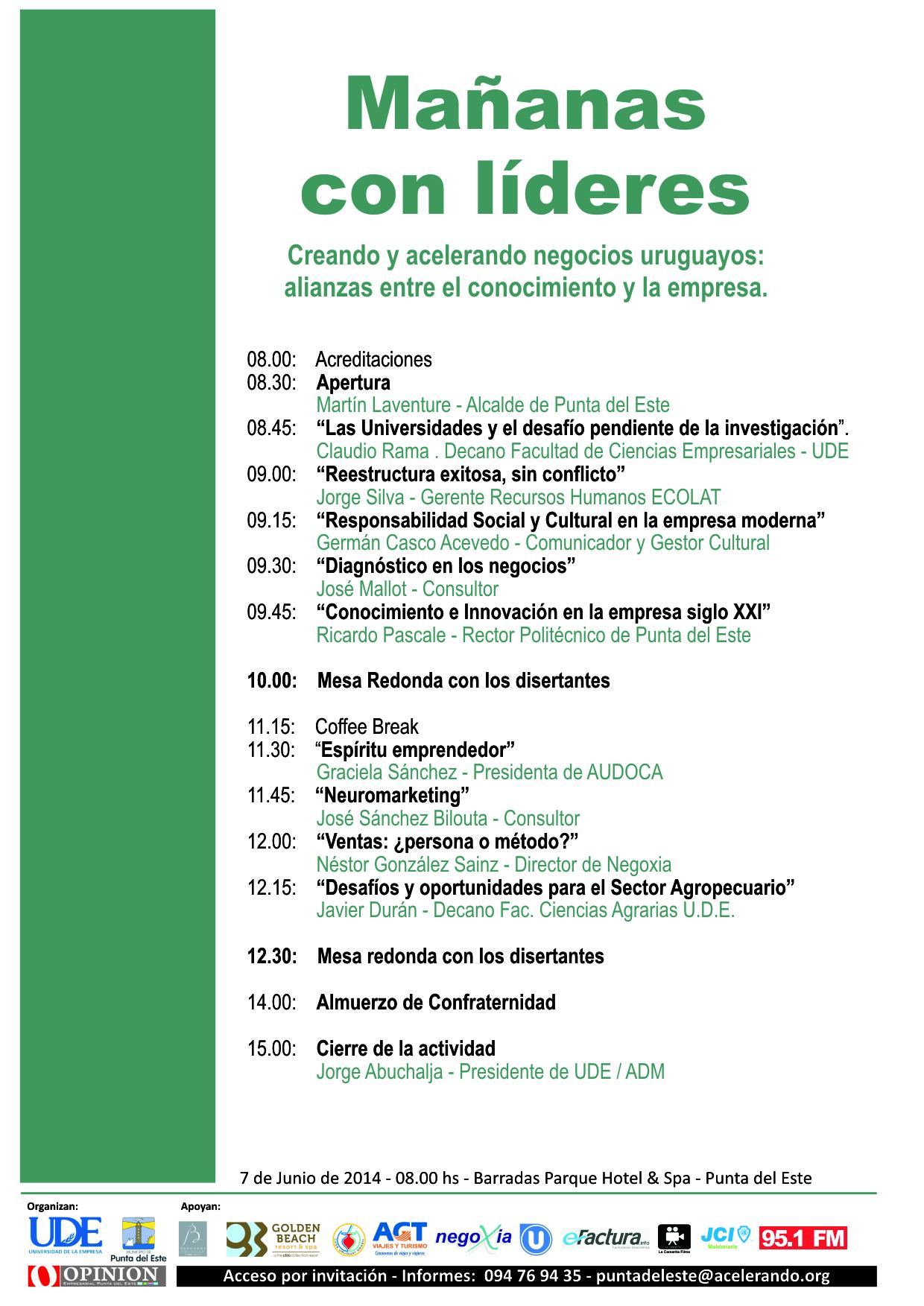 Programa mañanas con líderes :: alianzas entre conocimiento y empresas - Apoya eFactura: Facturación electrónica en Uruguay